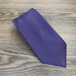 Brooks Brothers Purple & Navy Check Tie